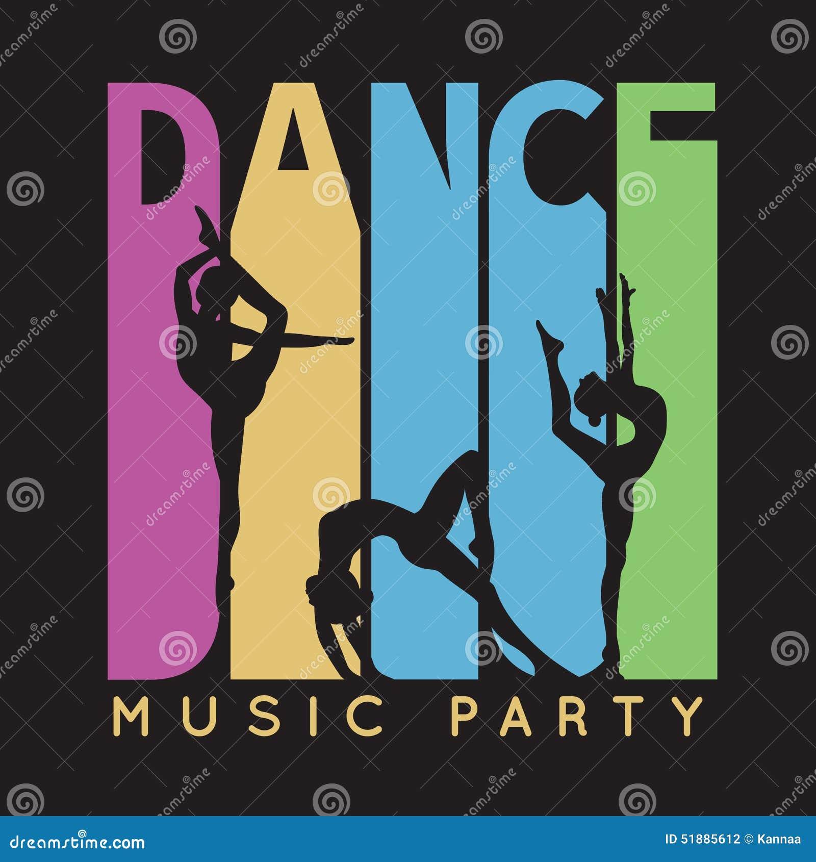 Dance Typography T Shirt Graphics Vector Stock Vector