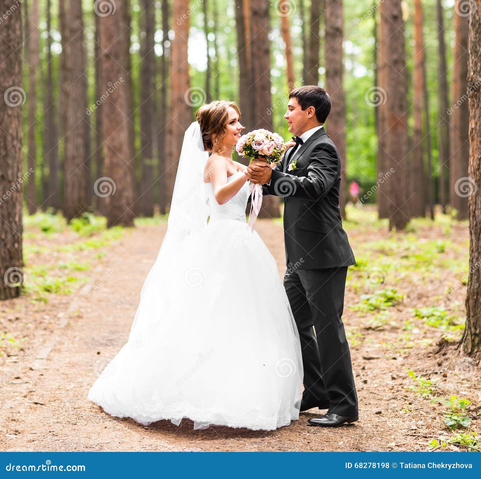 Dance Wedding Couple Stock Photo