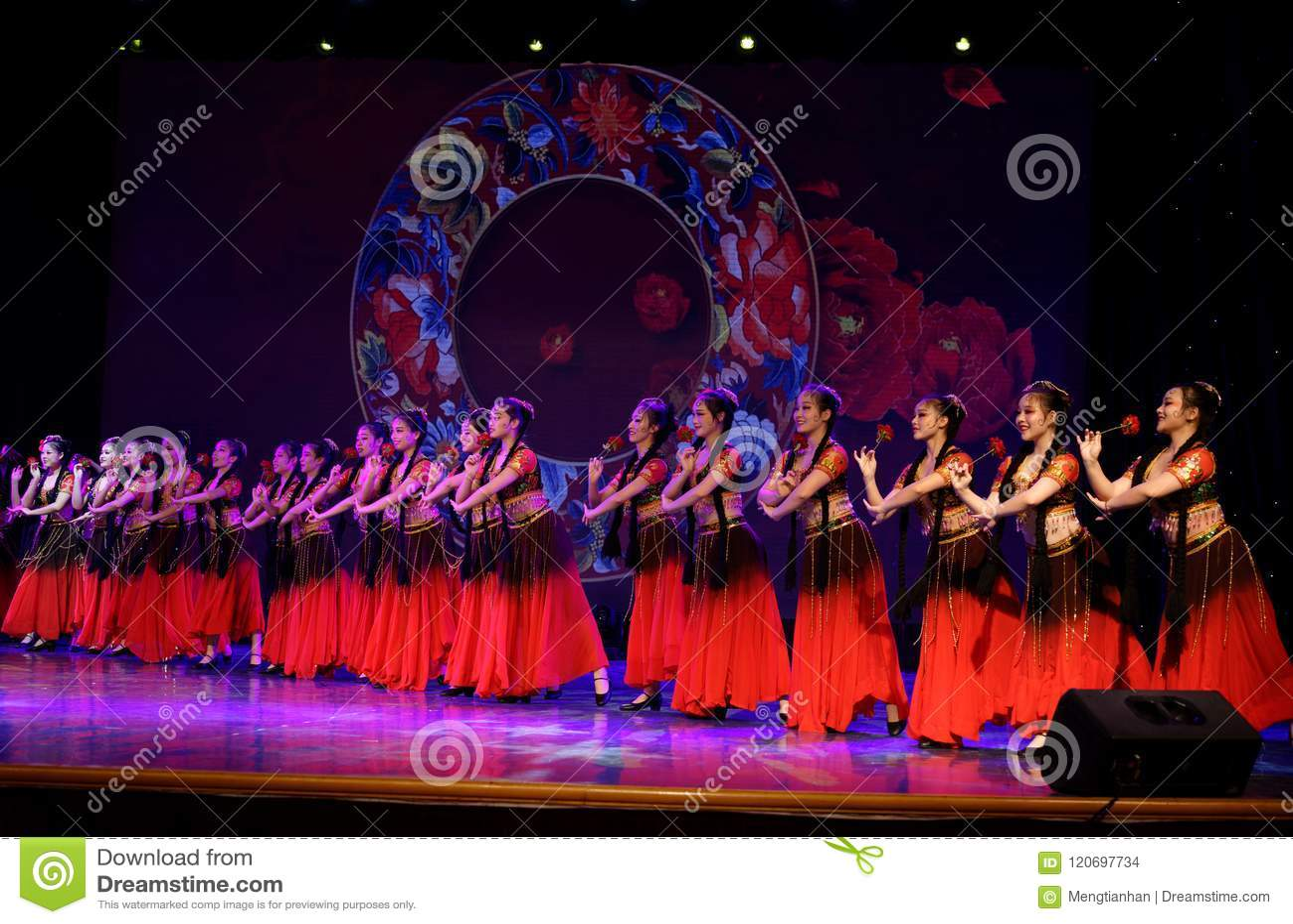 Send you a rose 4 -Chinese national dance in Xinjiang