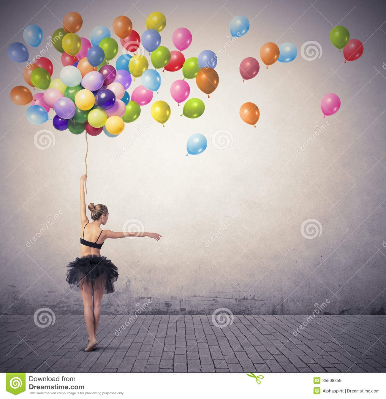 Dancer With Balloons Royalty Free Stock Images - Image ...