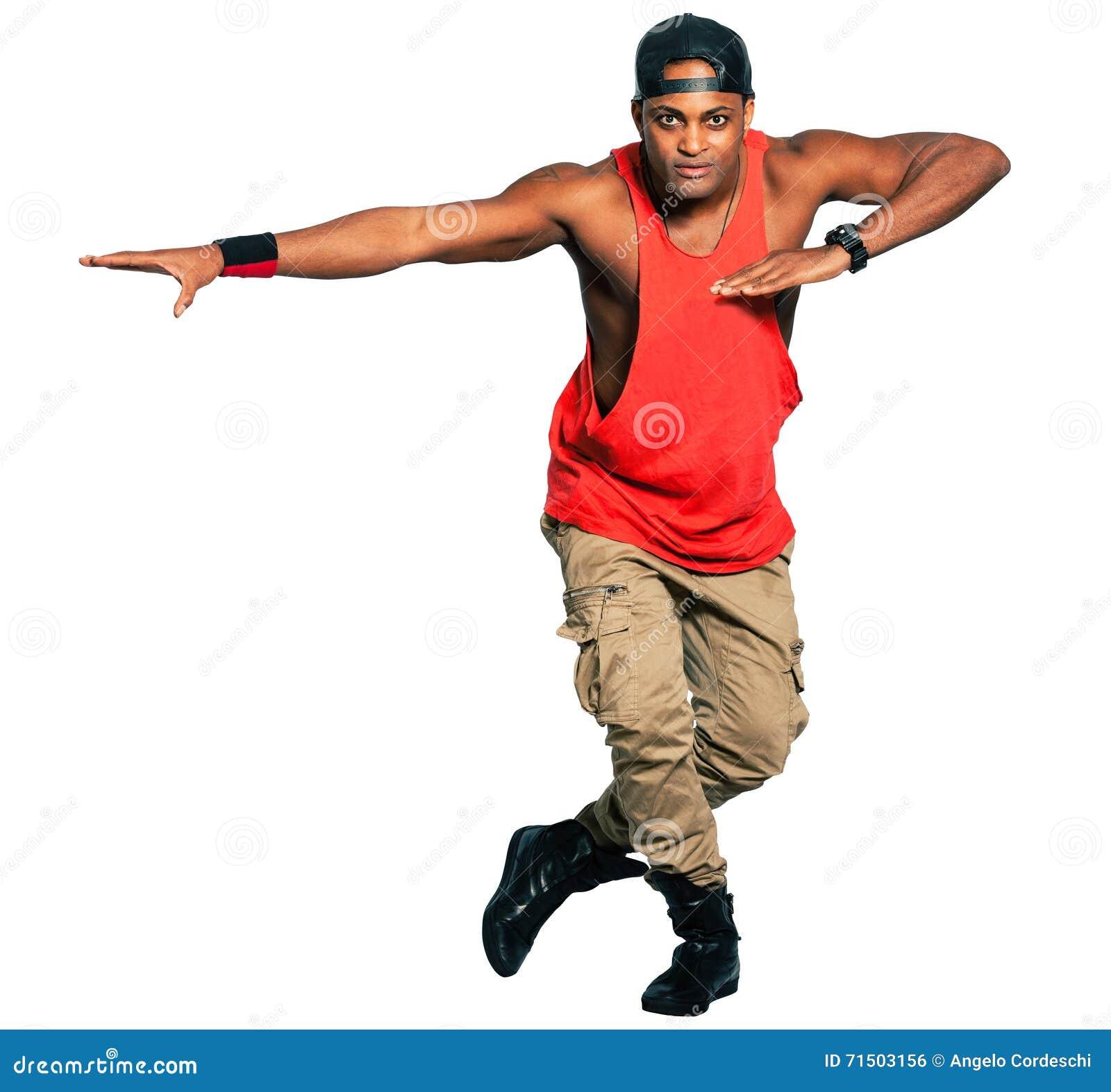 Dancer Black Man Full Isolated On White Background Png