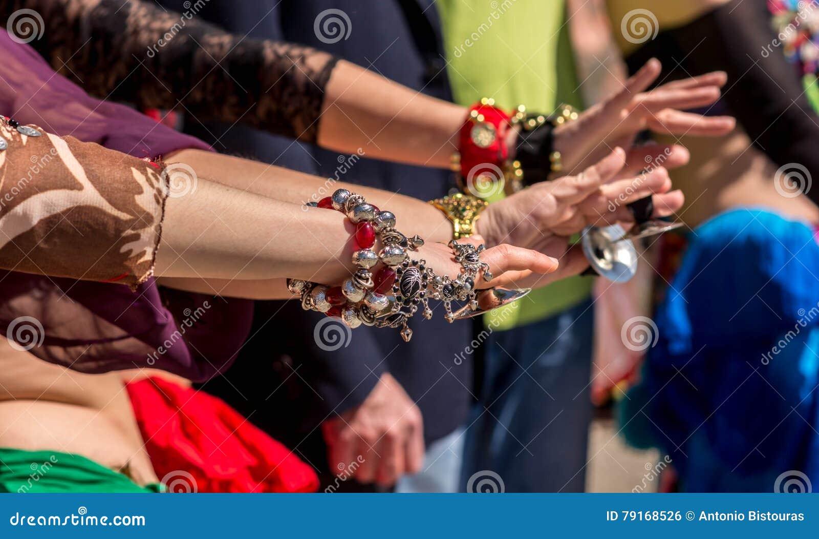 Dancer´s hands during a dancing show.