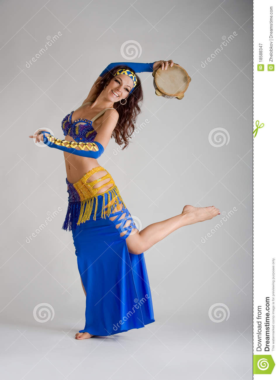 A Dancer With A Tambourine Royalty Free Stock Photography ...