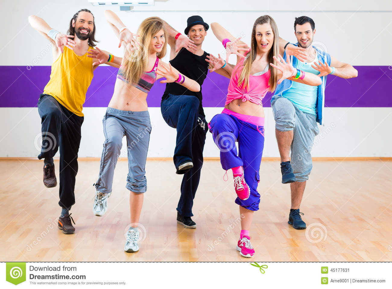 Fitness Dance Royalty-Free Stock Image