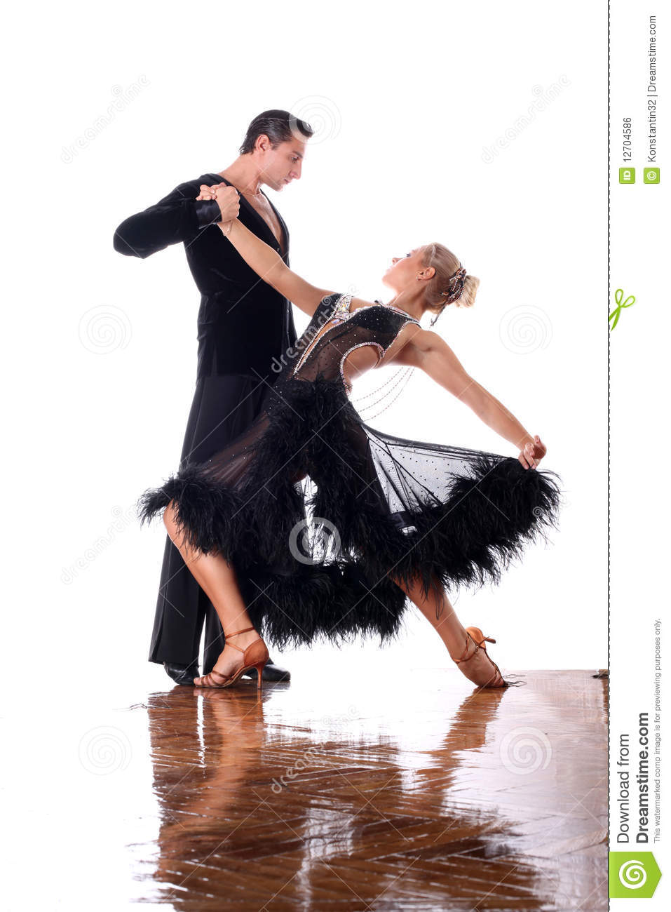 Dancers In Ballroom Royalty Free Stock Image - Image: 12704586