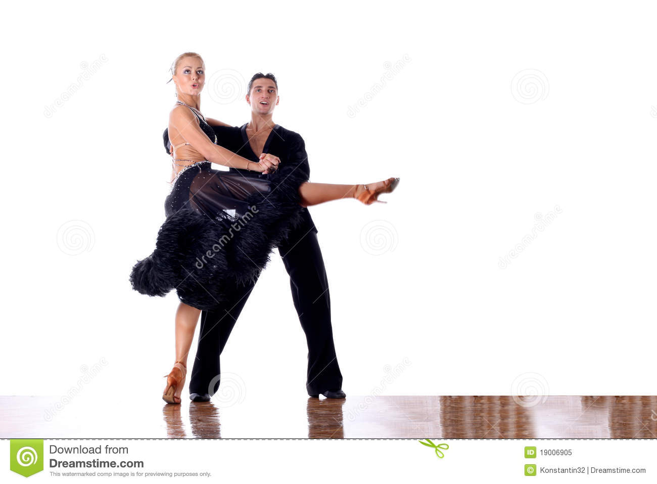Dancers In Ballroom Royalty Free Stock Photo - Image: 19006905