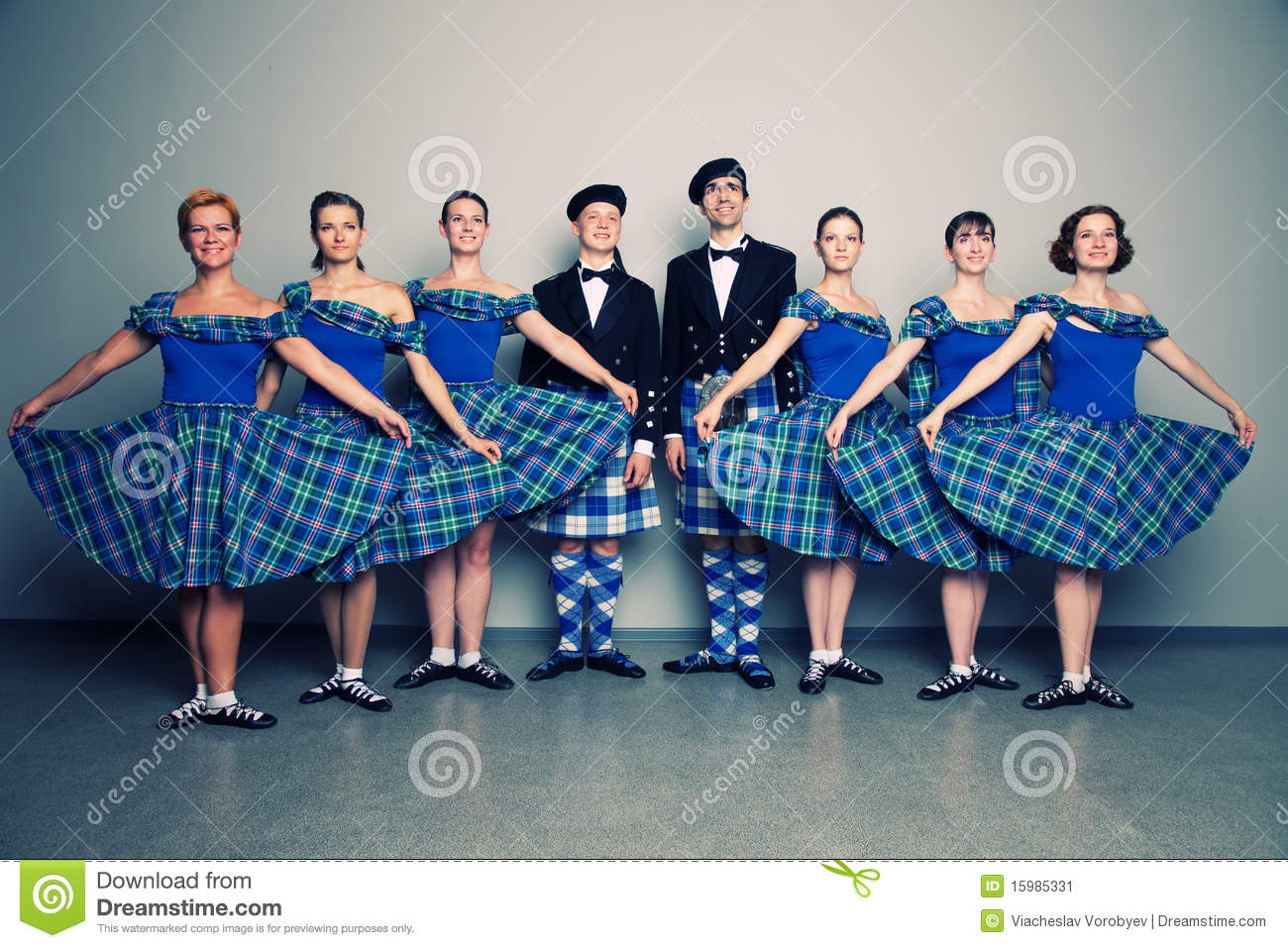 Dancers In Kilts Stock Image - Image: 15985331