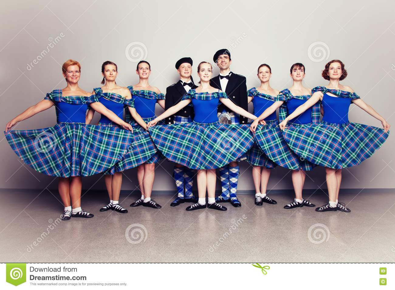Dancers In Kilts Royalty Free Stock Photo - Image: 15985485