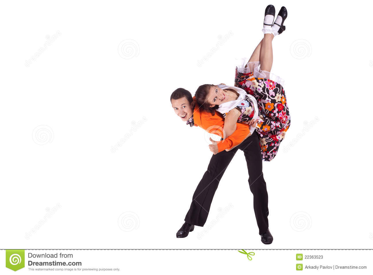 Studio photography on a white background, dancers dressed as rock and ...