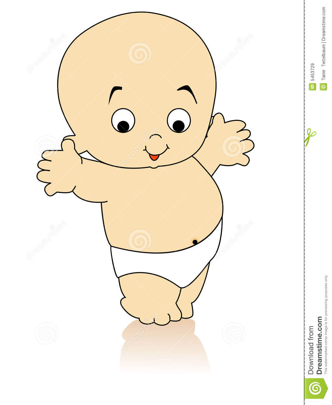 Dancing Baby Stock Illustration Illustration Of Graphic 5453729