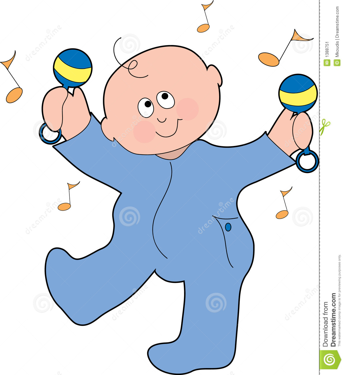 dancing baby boy stock image image 1388751 music notes clip art free download music note clipart for free