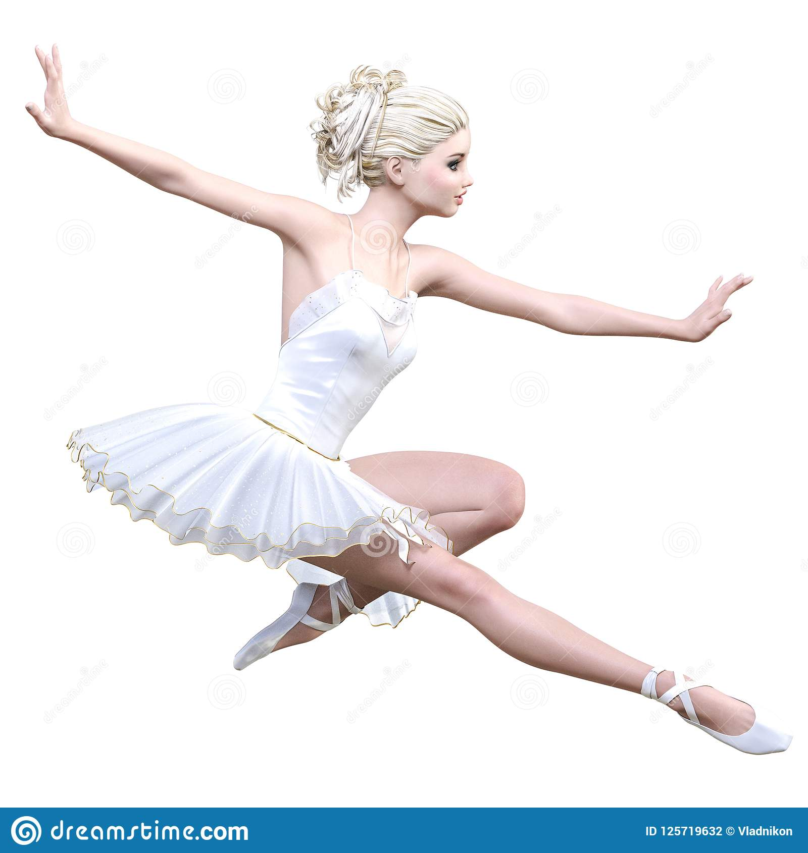 4f0d8aae6e14e Dancing Ballerina 3D. White Ballet Tutu. Stock Photo - Image of ...