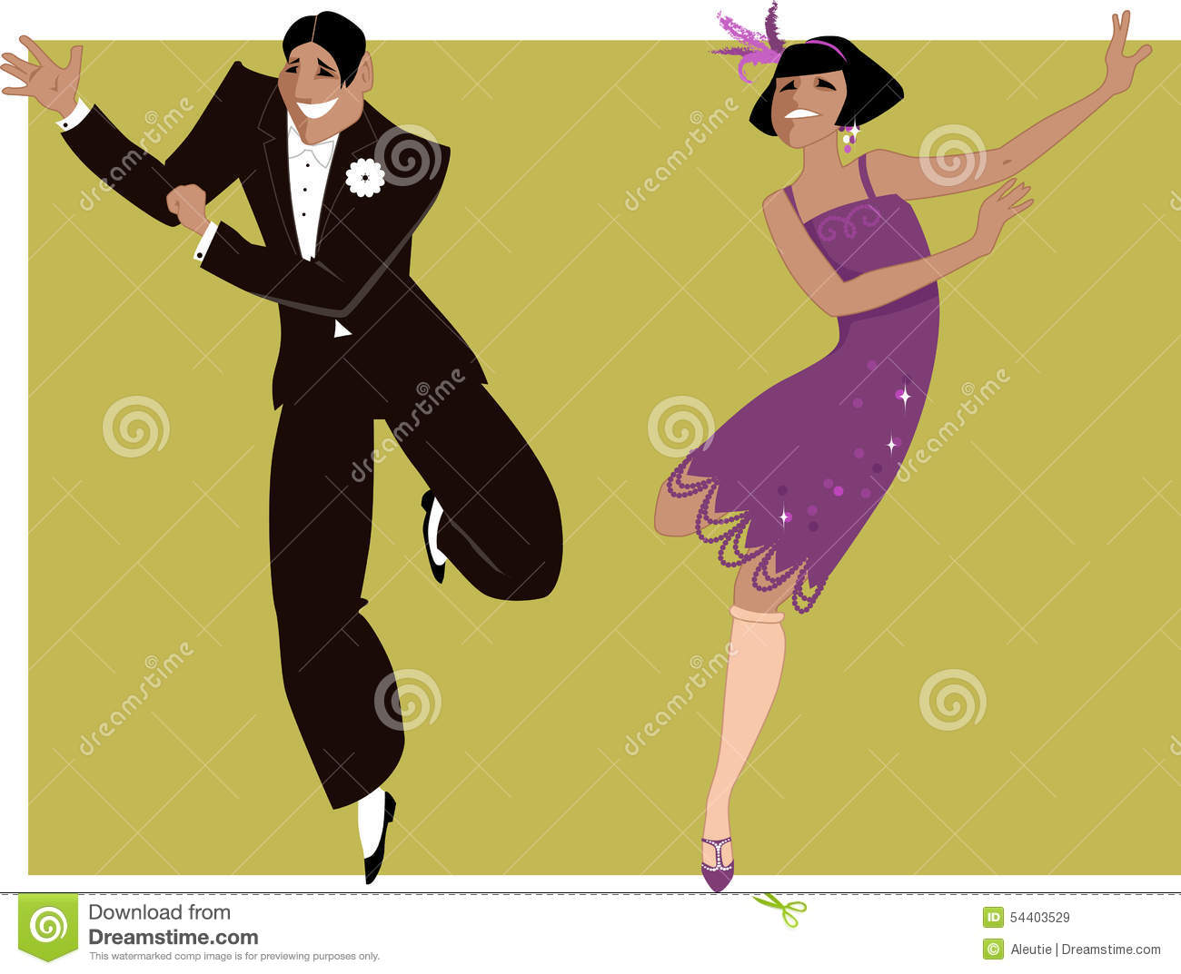 Dancing The Charleston Stock Vector - Image: 54403529