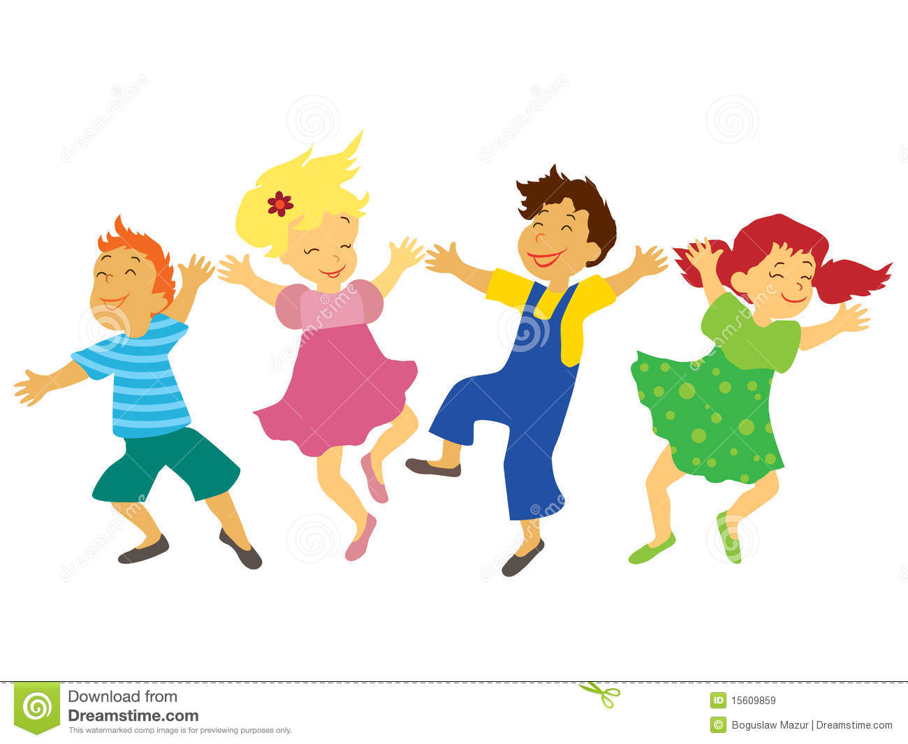 Dancing Children Royalty Free Stock Images Image 15609859