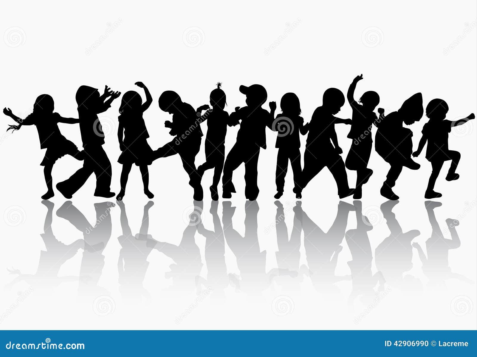 dancing children silhouettes stock vector illustration family reunion clip art ideas family reunion clip art pictures