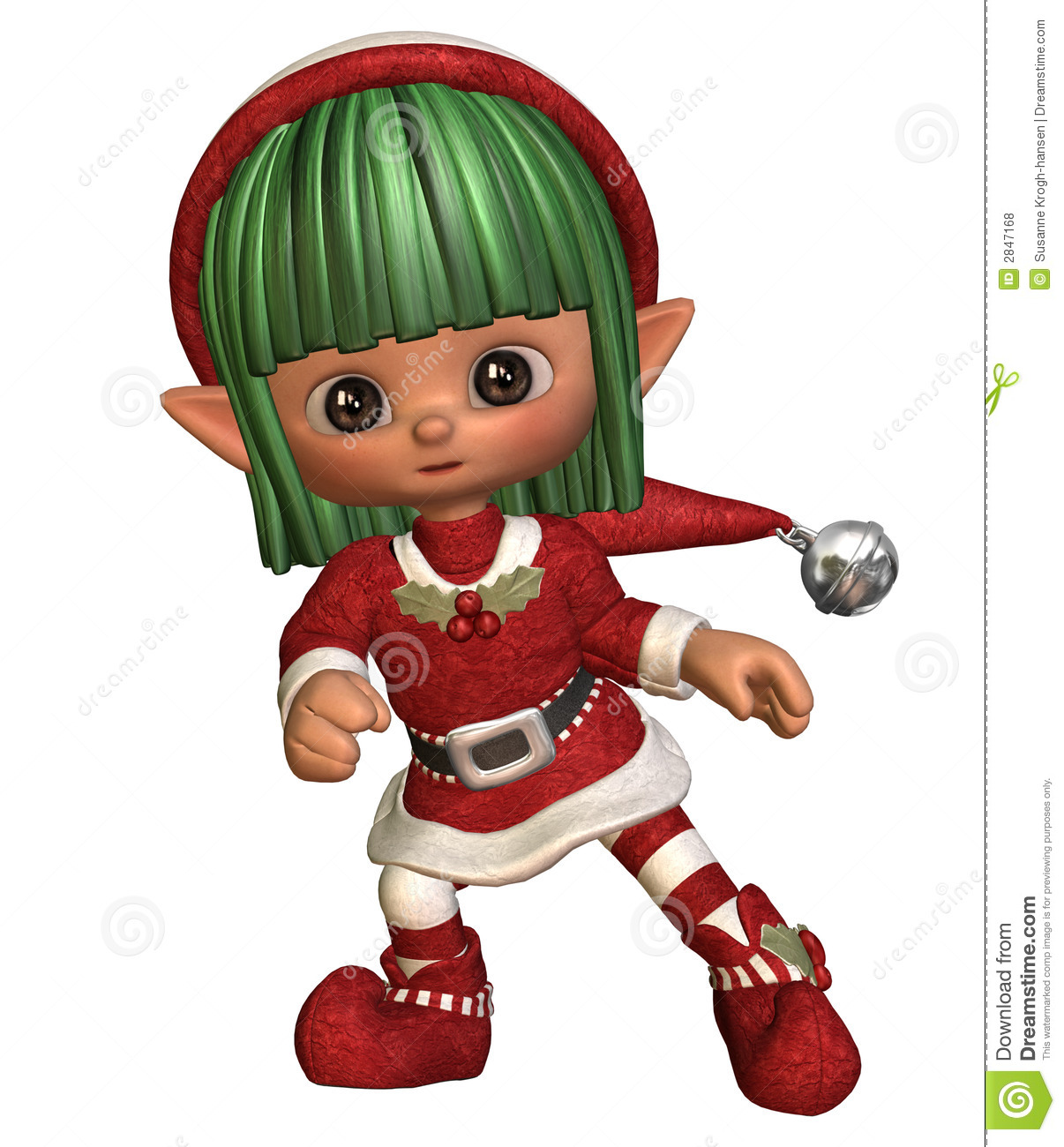Dancing christmas elf