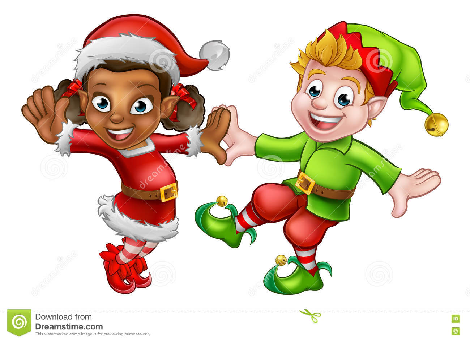 dancing christmas elves stock vector illustration of festive 79512029