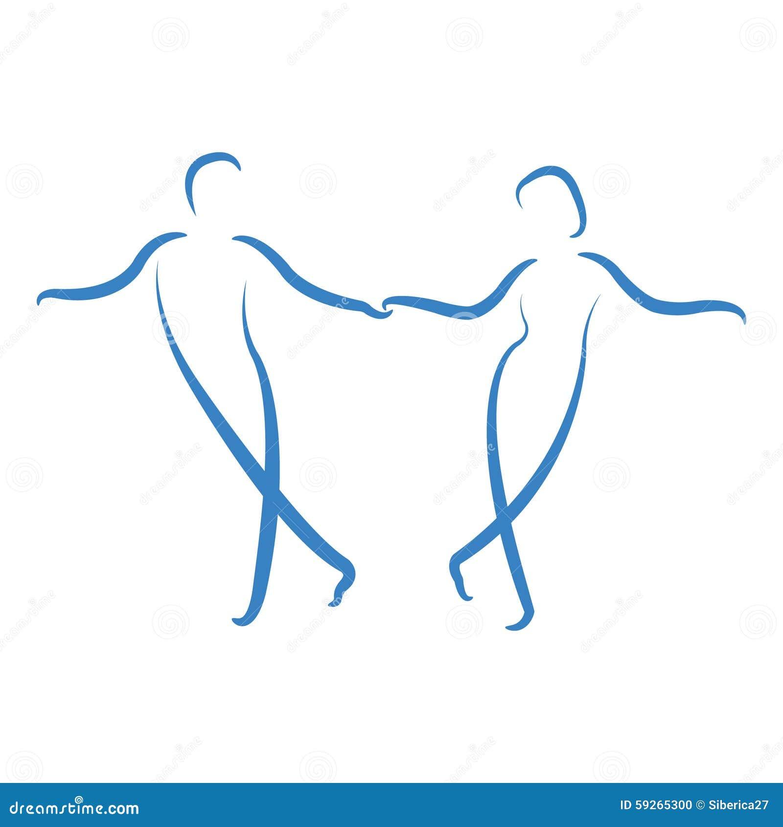 Dancing Couple Logo Stock Vector Image 59265300