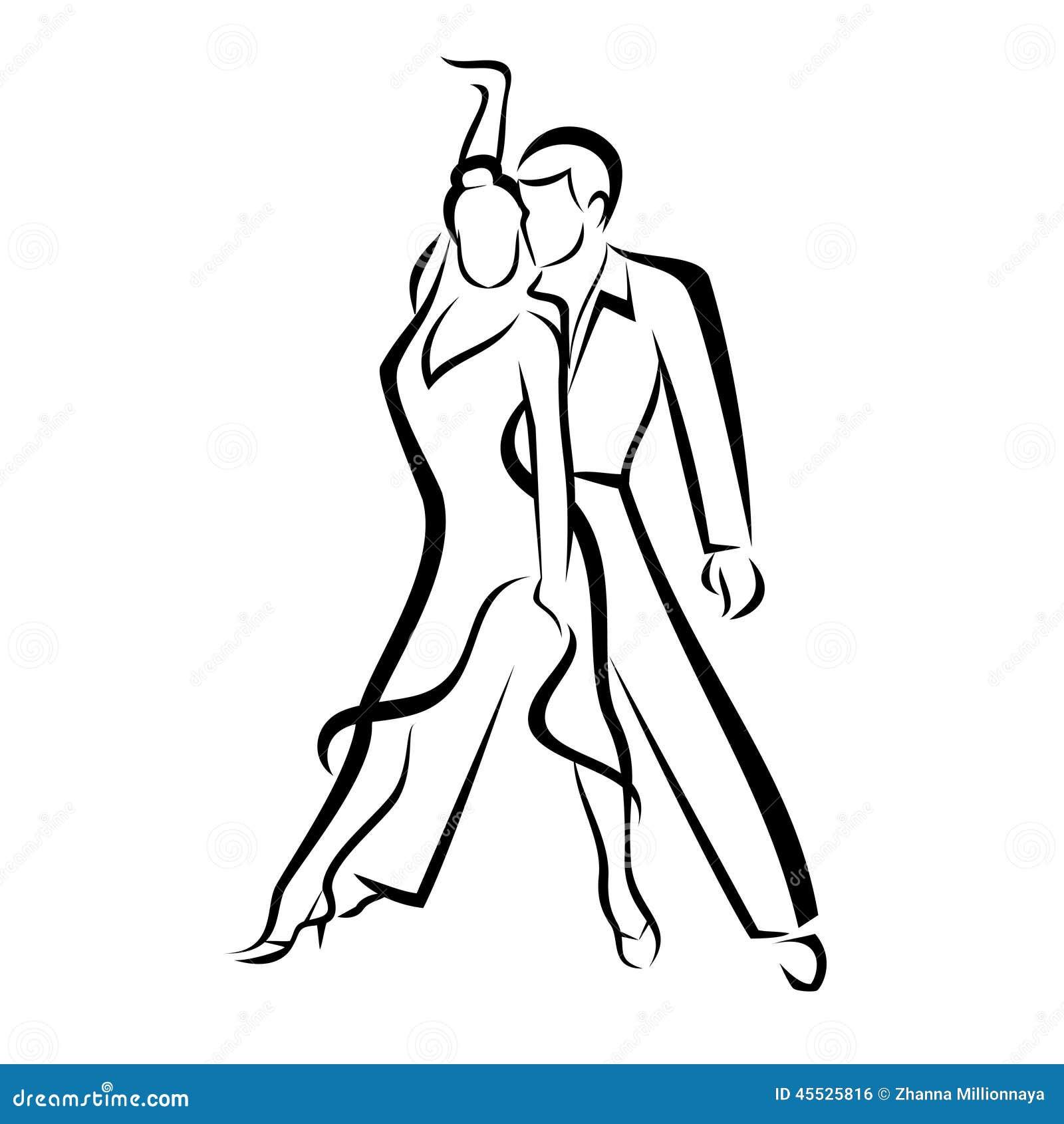 Dancing Couple Stock Vector