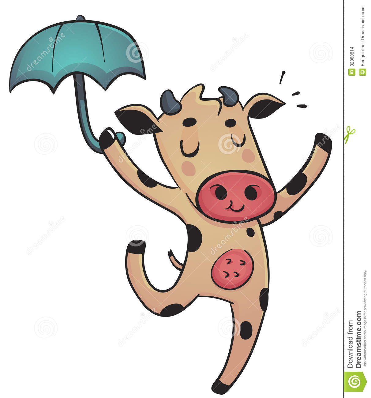 dancing cow stock images image 32980814