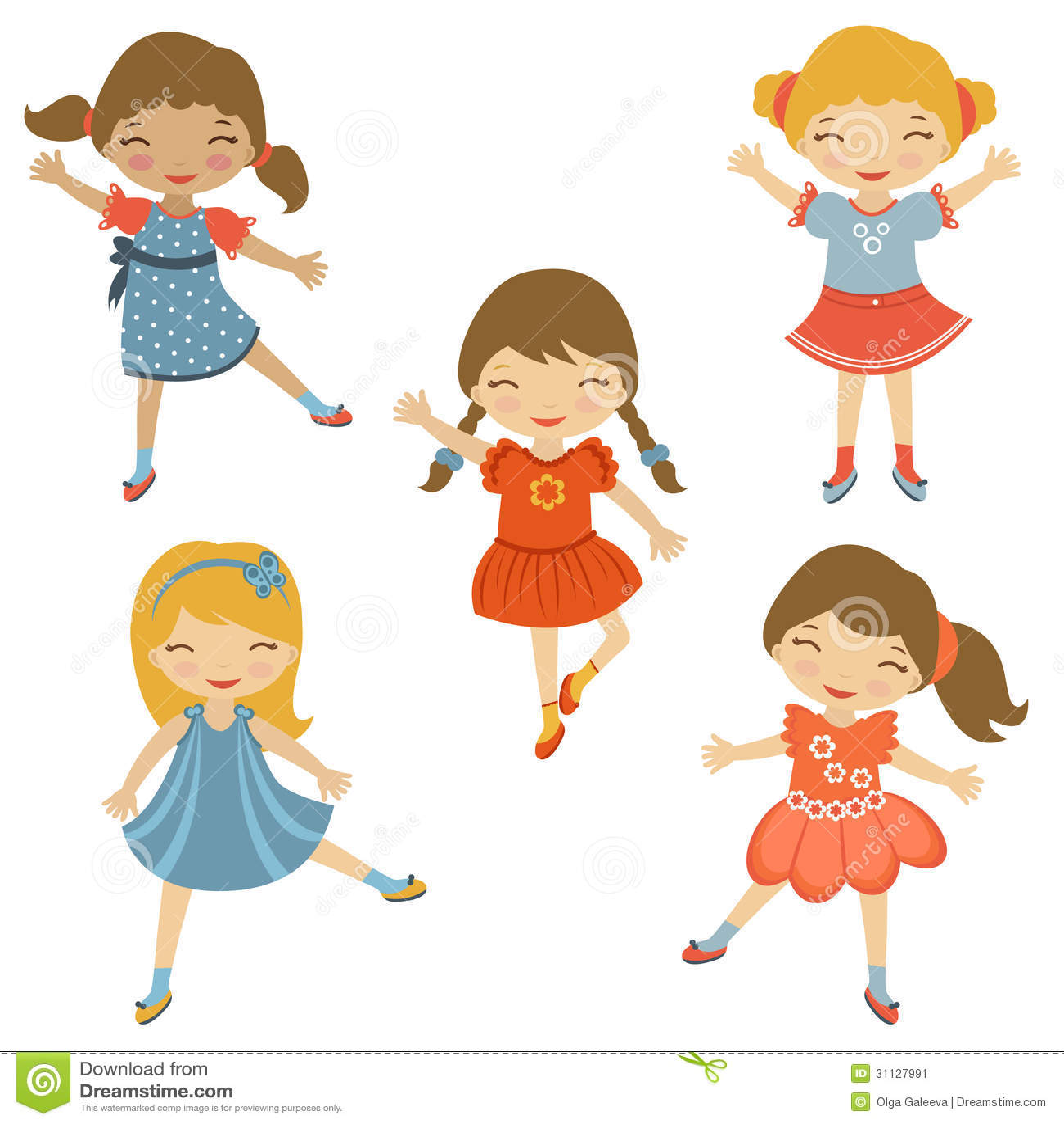 Dancing Cuties Stock Image - Image: 31127991