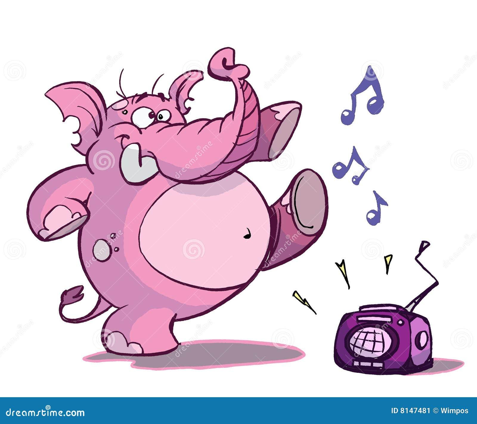 Dancing Elephant Stock Image - Image: 8147481