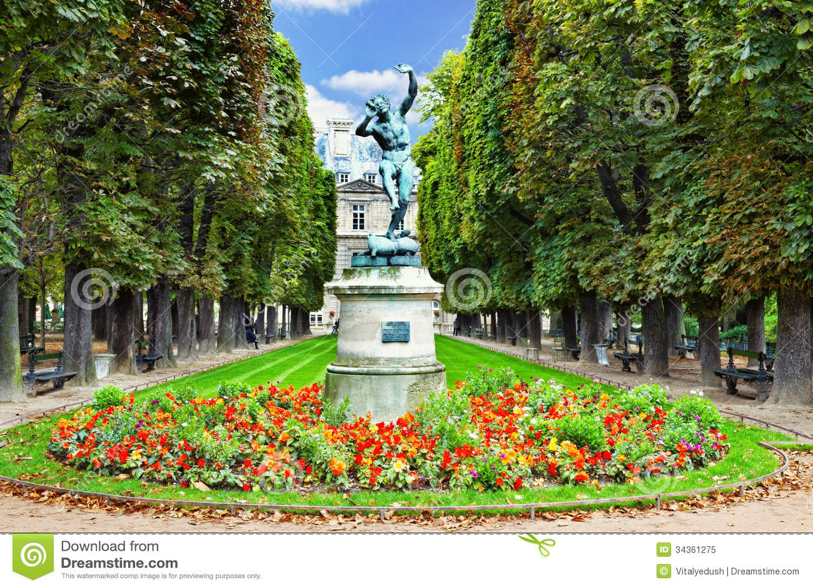 Dancing Faun. Luxembourg Garden(Jardin du Luxembourg) in Paris, France ...