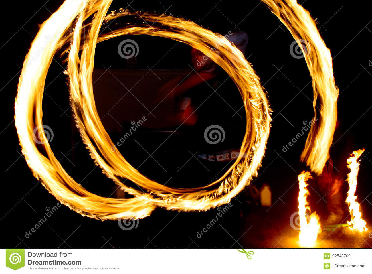 Dancing With Fire Stock Image Image Of Beach Confidence