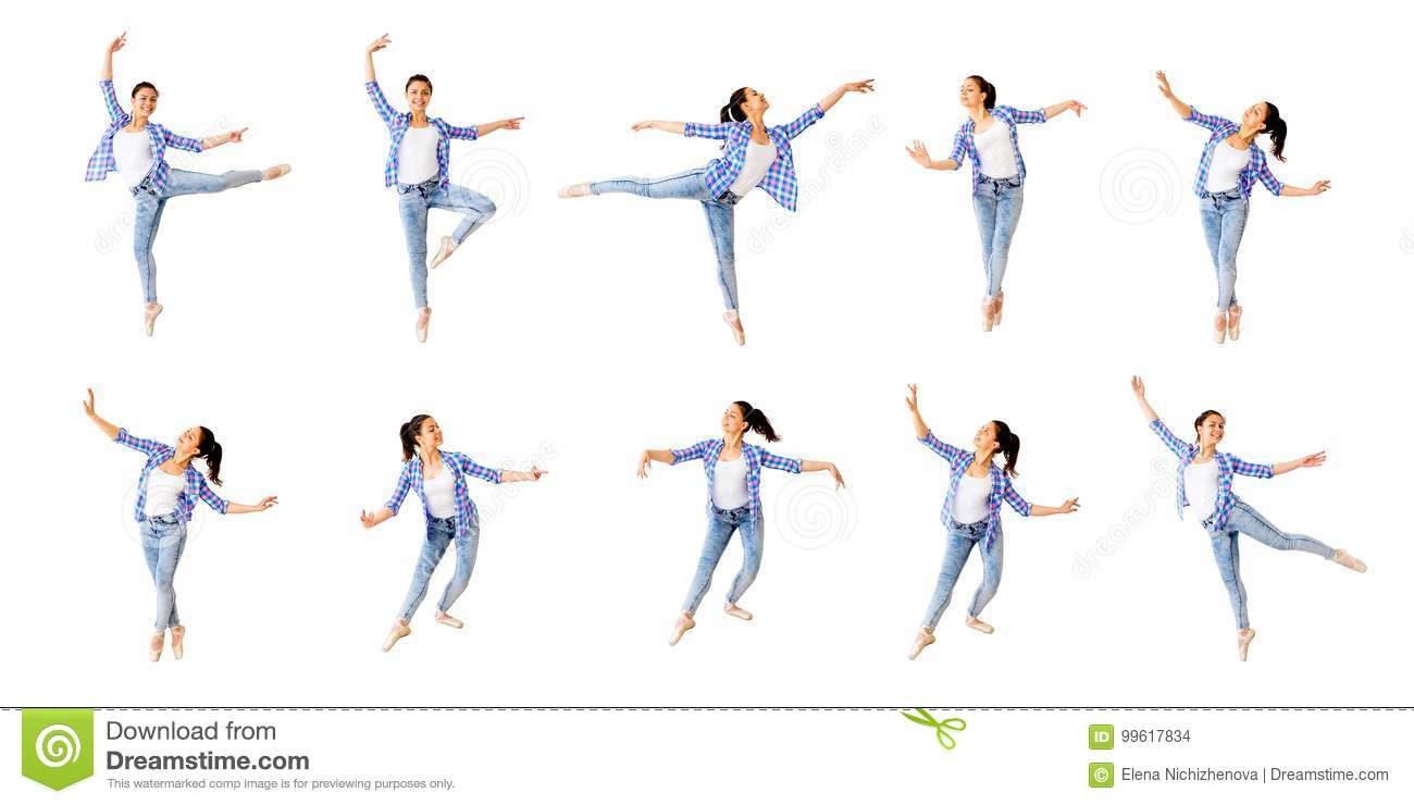 Dancing girl collage