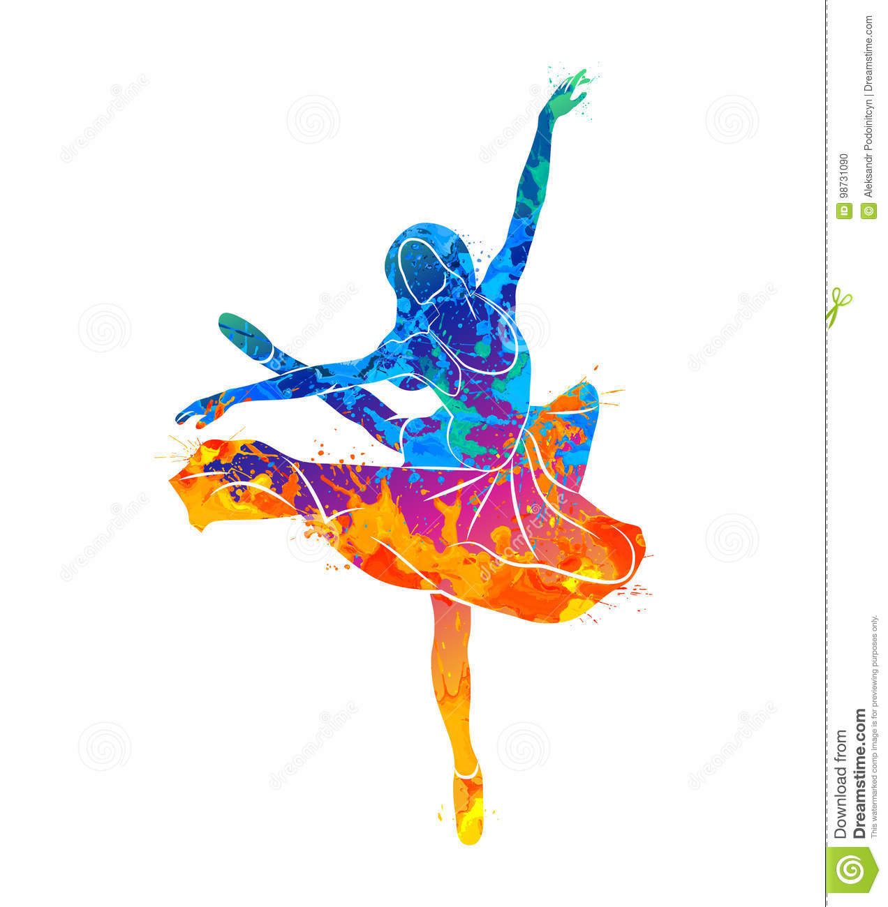 ef159c6fa Abstract dancing girl from splash of watercolors. Vector illustration of  paints. More similar stock illustrations