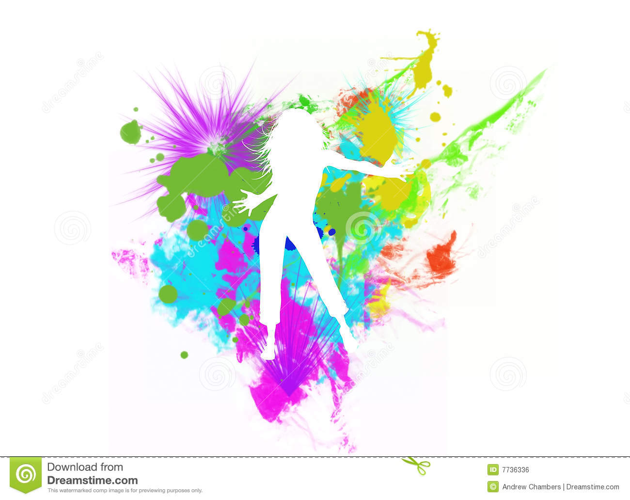 dancing girl silhouette - Dancing Pictures To Colour