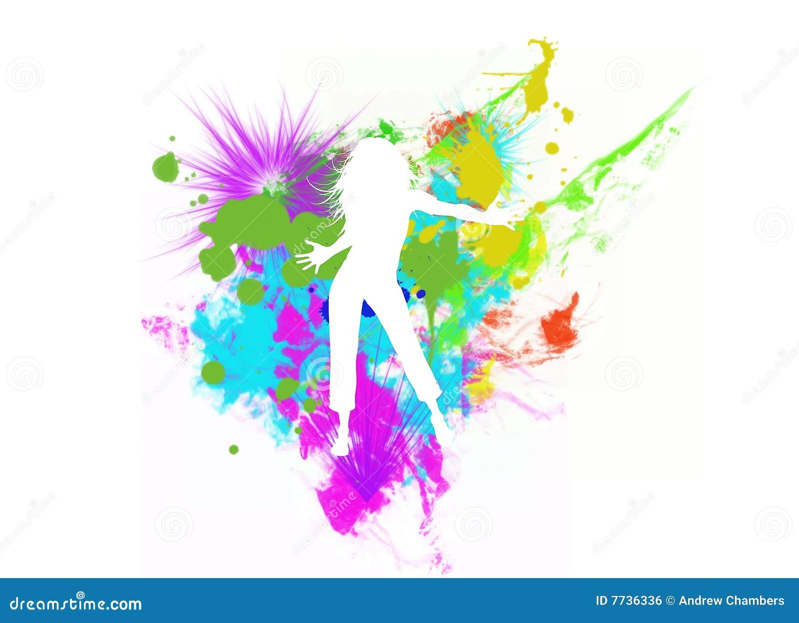 Dancing Girl Silhouette Royalty Free Stock Image Image