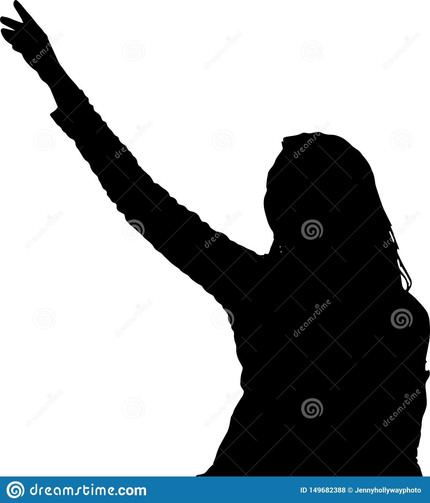 Dancing girl silhouettes shadow model figure