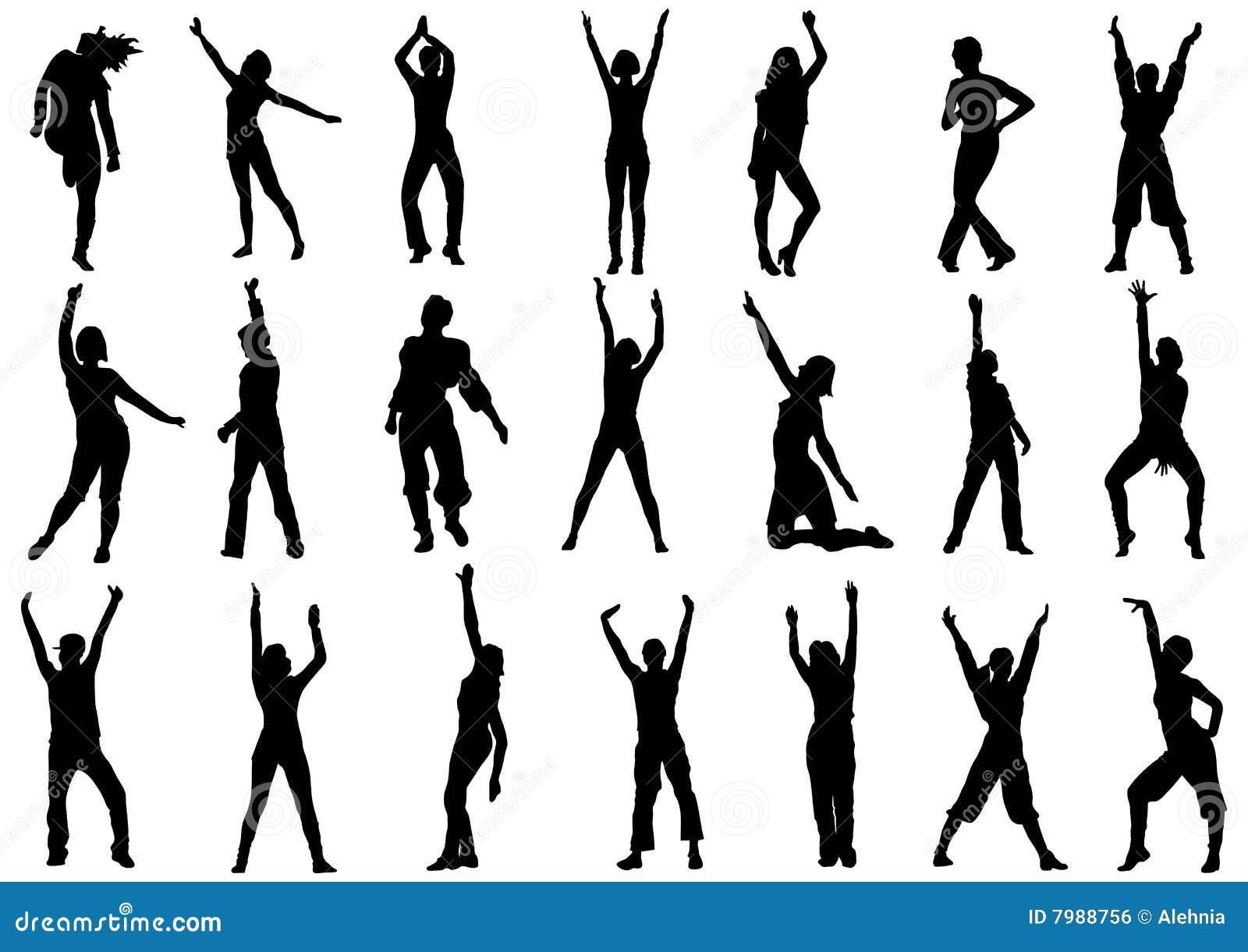 Dancing Girls In Action Illustration Stock Vector ...