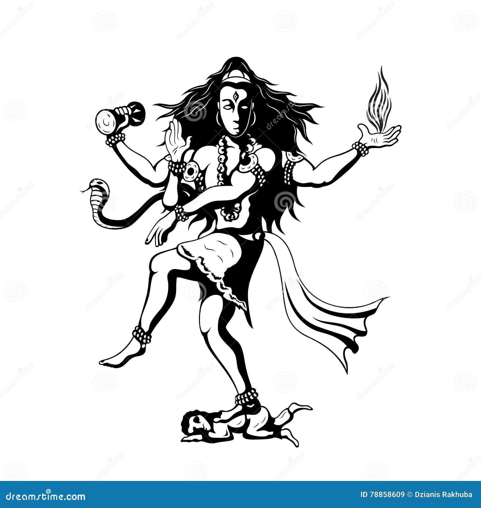 Dancing God Shiva Cartoon Vector | CartoonDealer.com #78858609