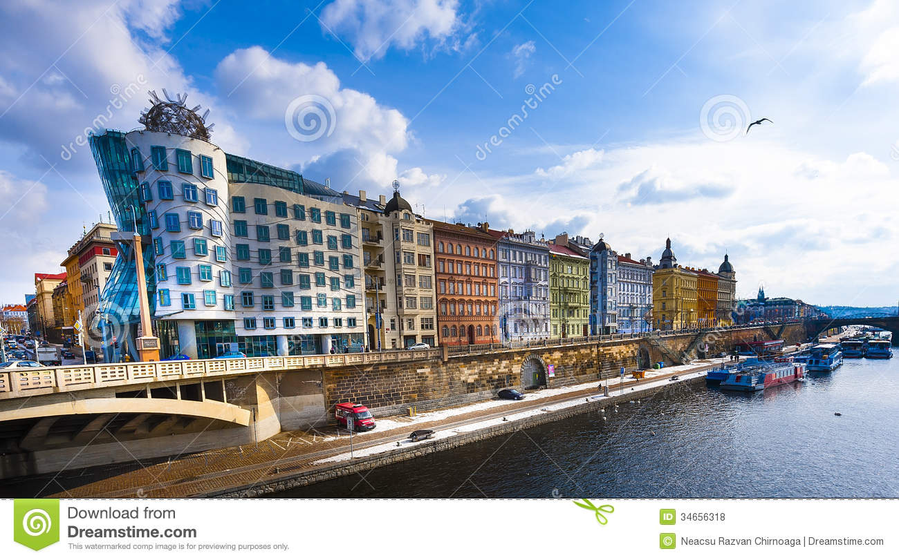 The dancing house prague editorial stock photo image of for Quirky hotels in prague