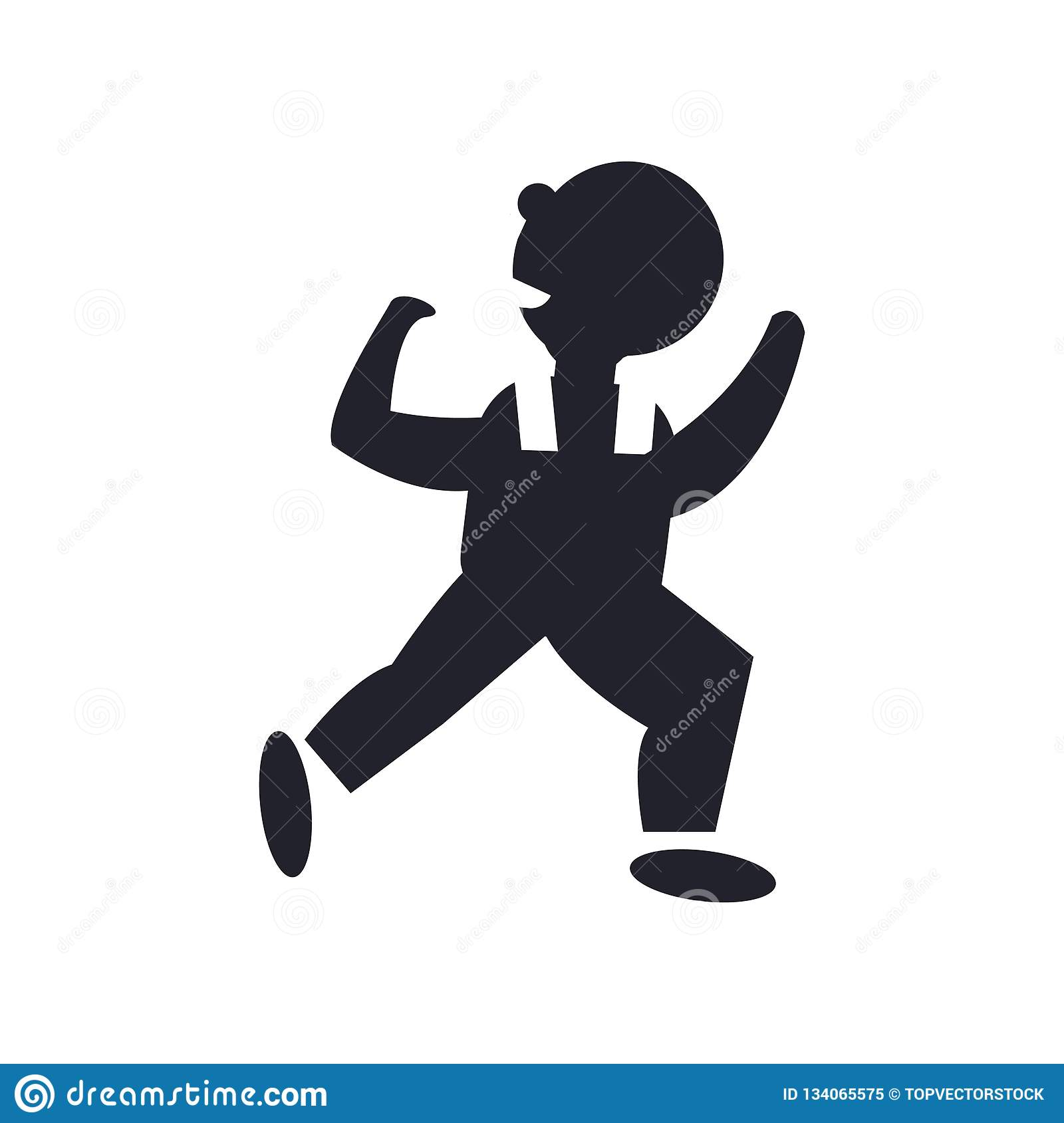 Dancing Man icon vector sign and symbol isolated on white background, Dancing Man logo concept