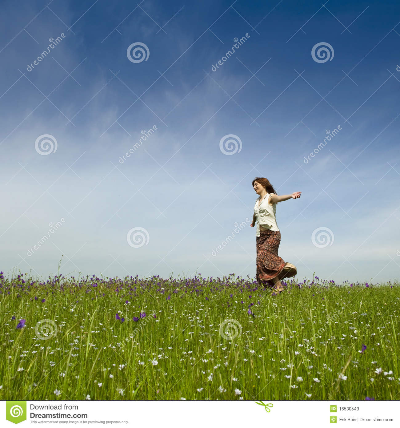 Dancing On Nature Stock Image. Image Of Leisure, Healthy