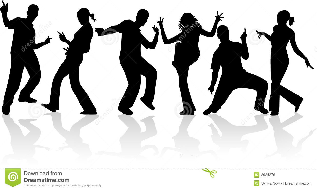 dancing people stock vector illustration of male background 2924276 rh dreamstime com Dancing Man Clip Art Old People Dancing Clip Art