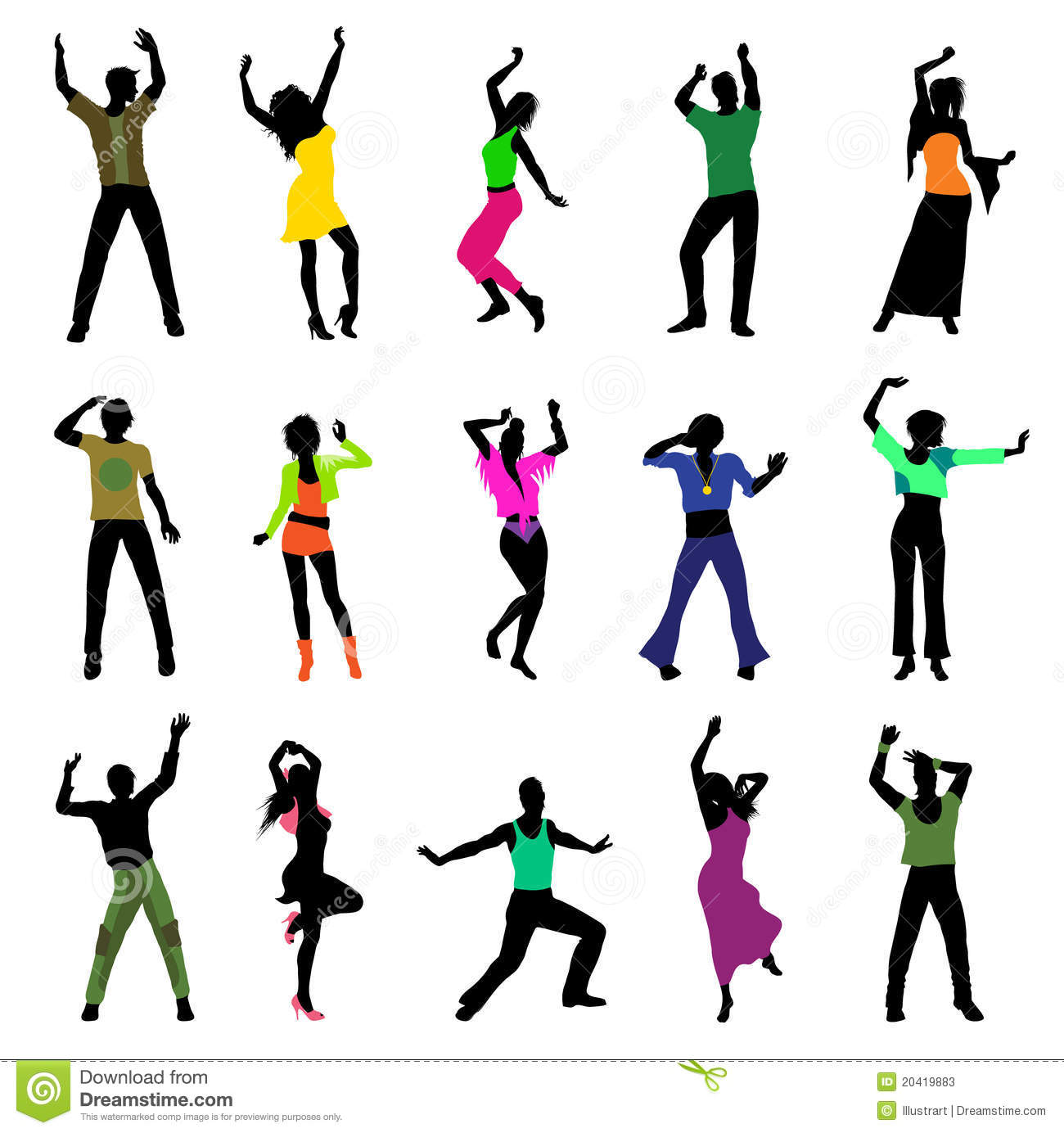More similar stock images of ` Dancing people silhouettes `