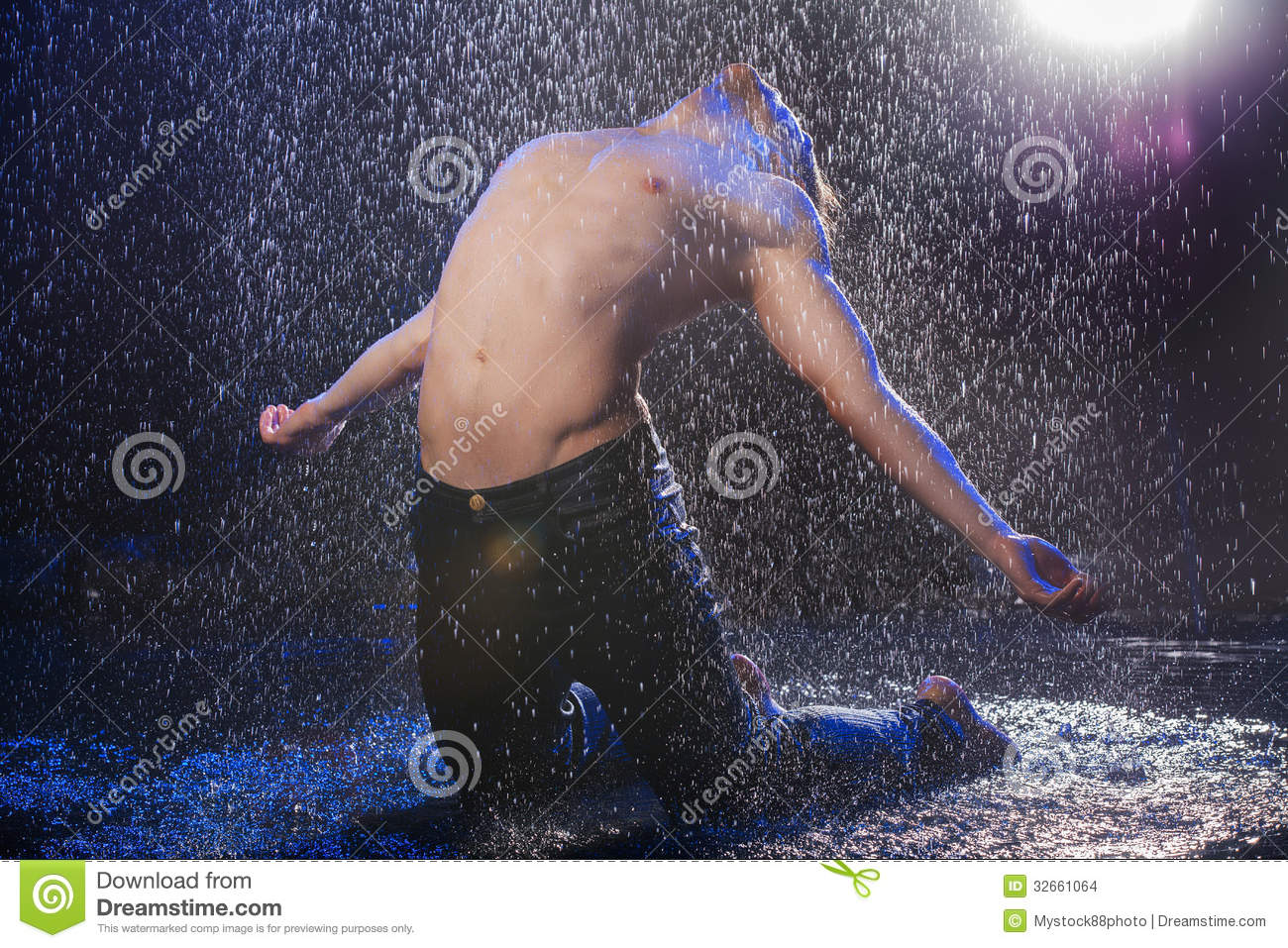 9ac80bb6d Dancing in the rain. stock photo. Image of handsome, rain - 32661064