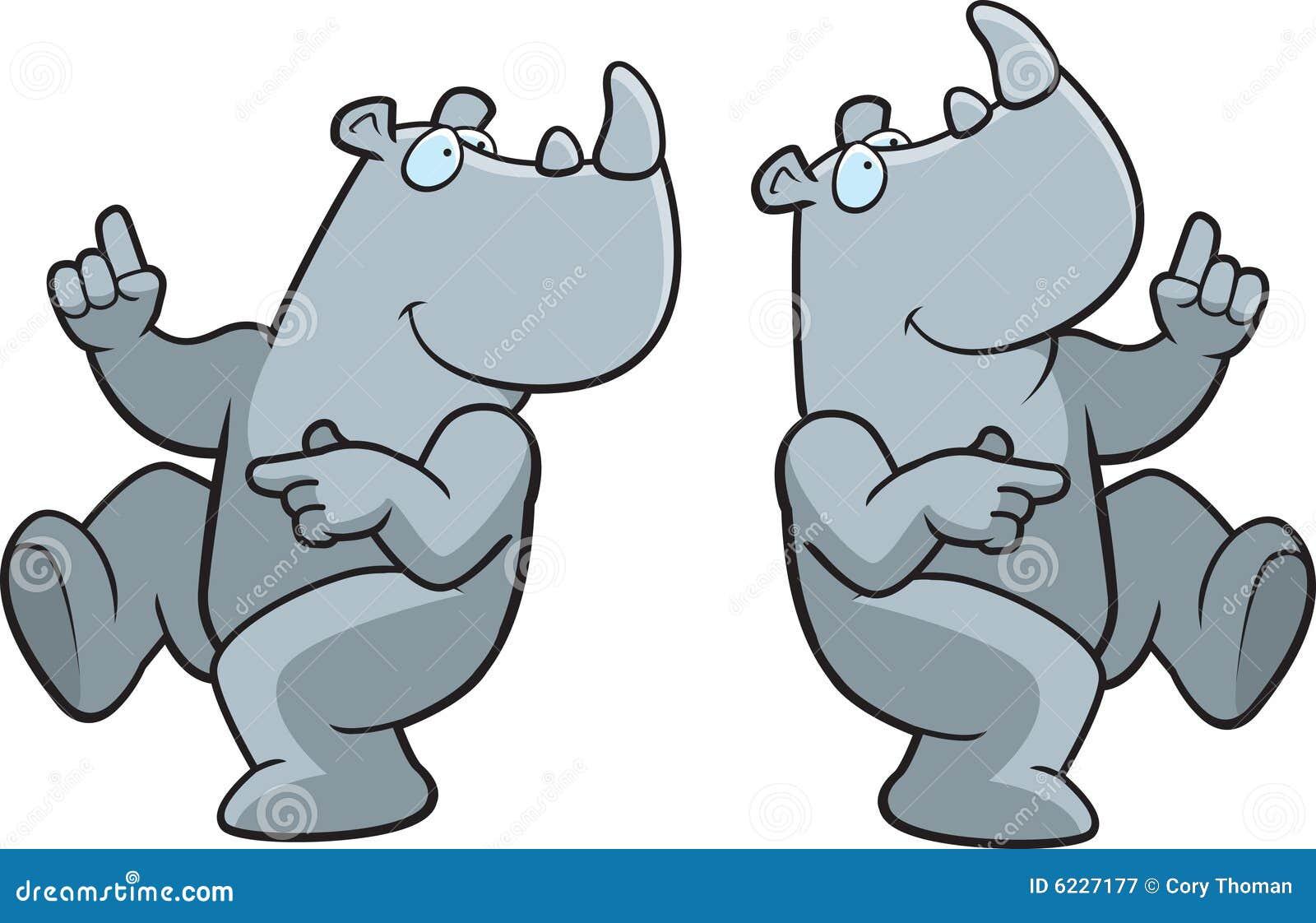 Dancing Rhino Royalty Free Stock Photography - Image: 6227177