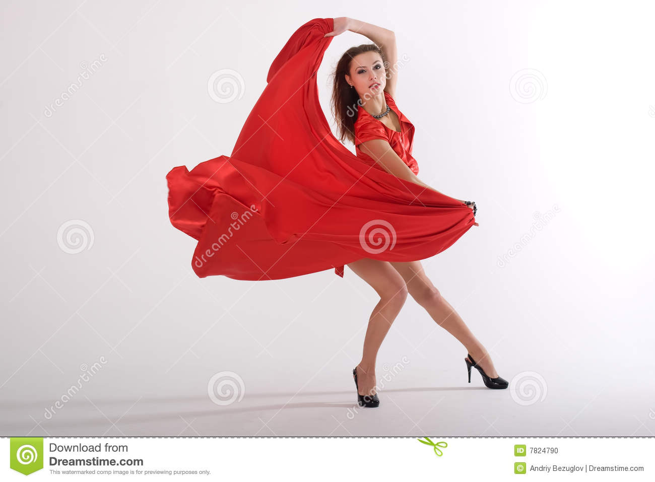 Dancing sexy lady stock photo image 7824790