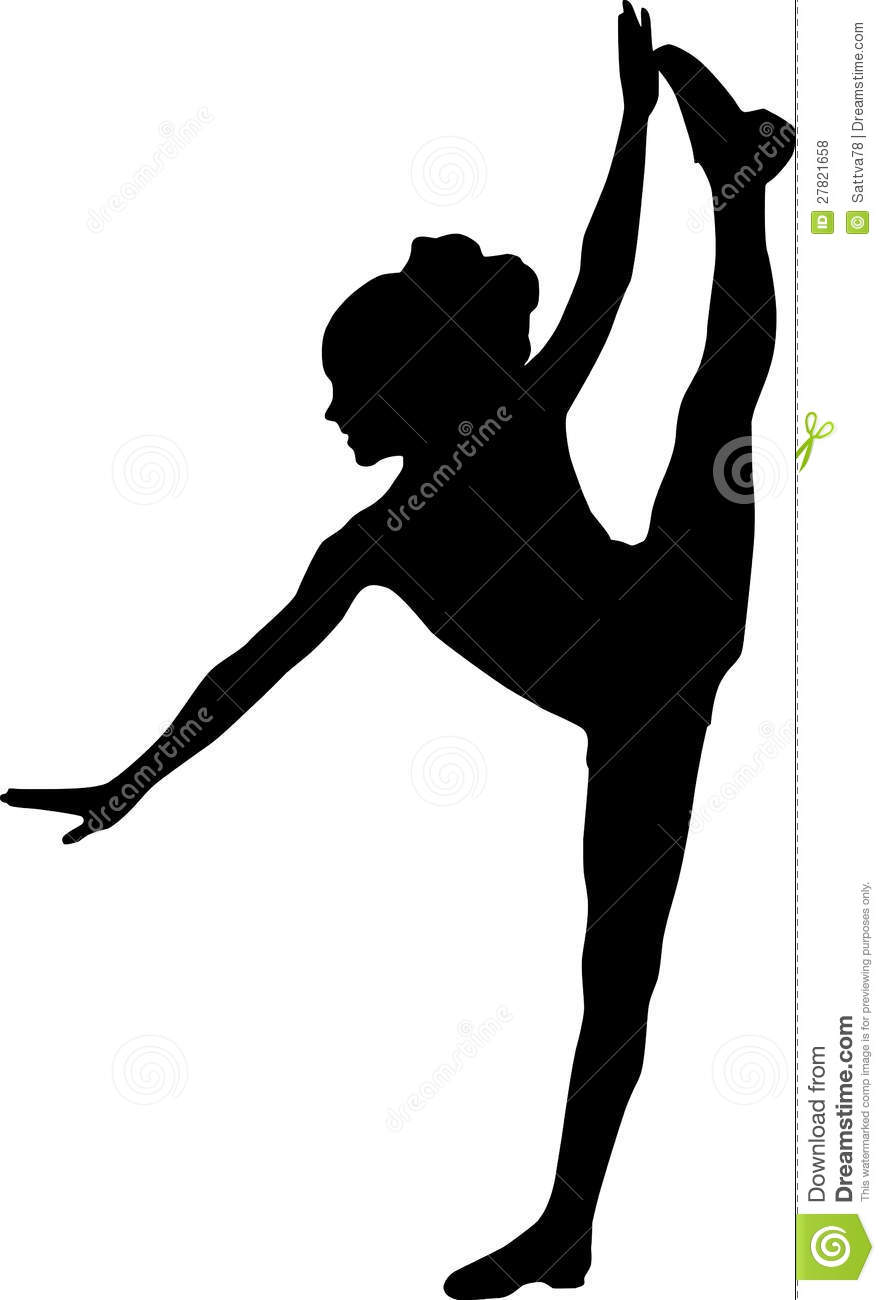 Dancing Silhouette Kid Royalty Free Stock Photos - Image ...