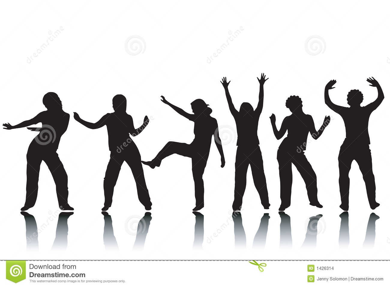 Dream Dance By Line Art Inc : Dancing silhouettes stock images image