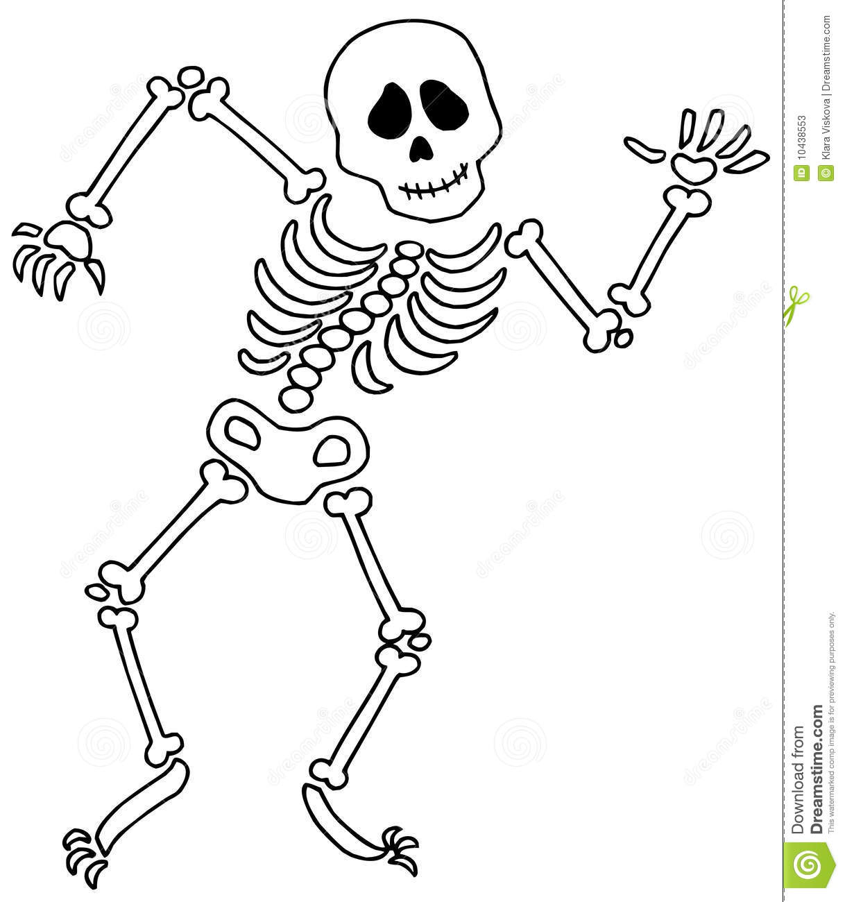 Stock Photos Dancing Skeleton Image10438553 on scary eyes clip art free