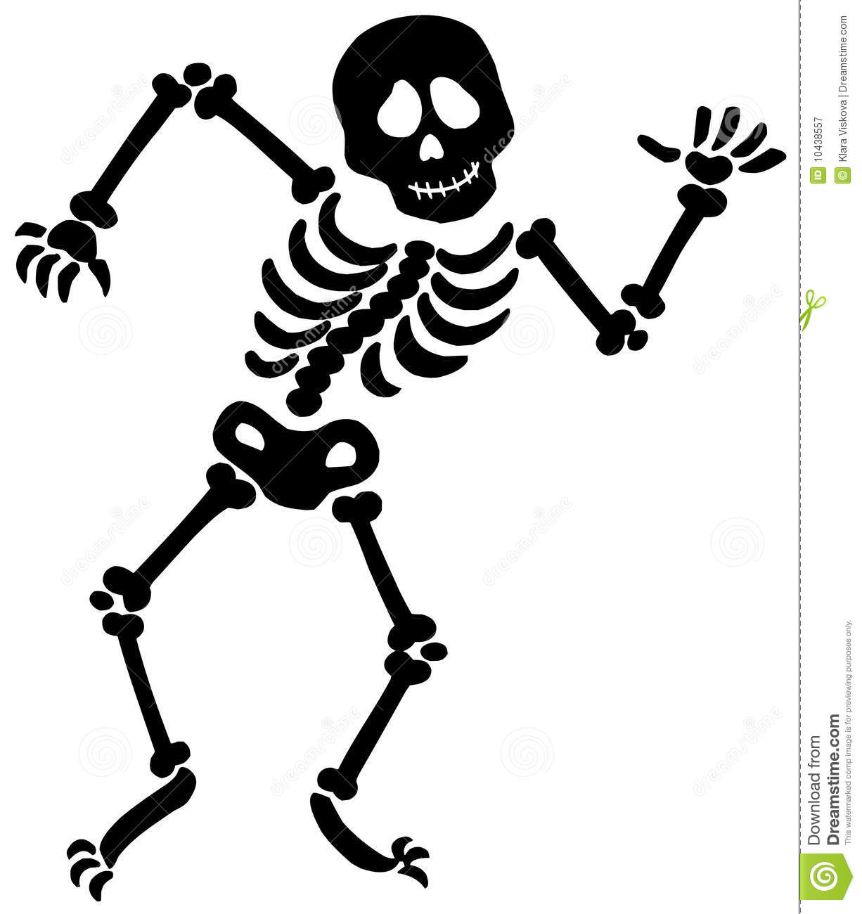 Dancing Skeleton Silhouette Royalty Free Stock Photography Image 10438557
