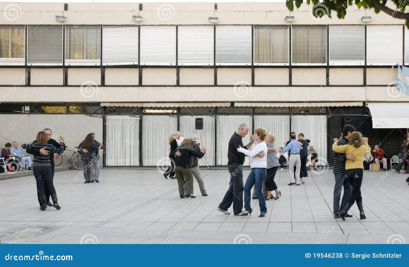 Dancing a Tango on the Street
