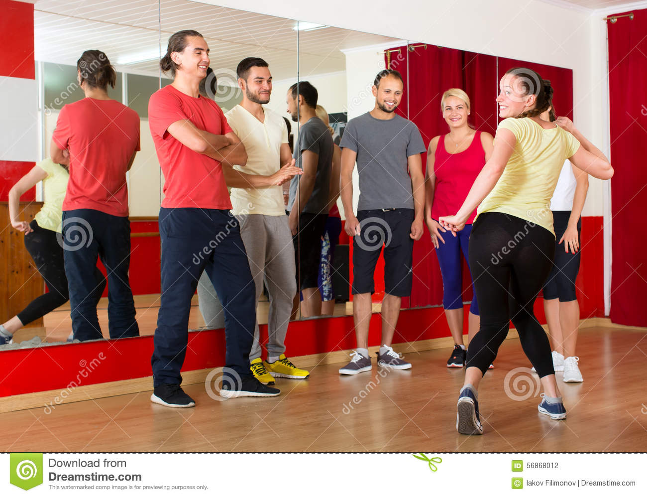 Dancing Teacher Showing New Moves Stock Photo - Image: 56868012