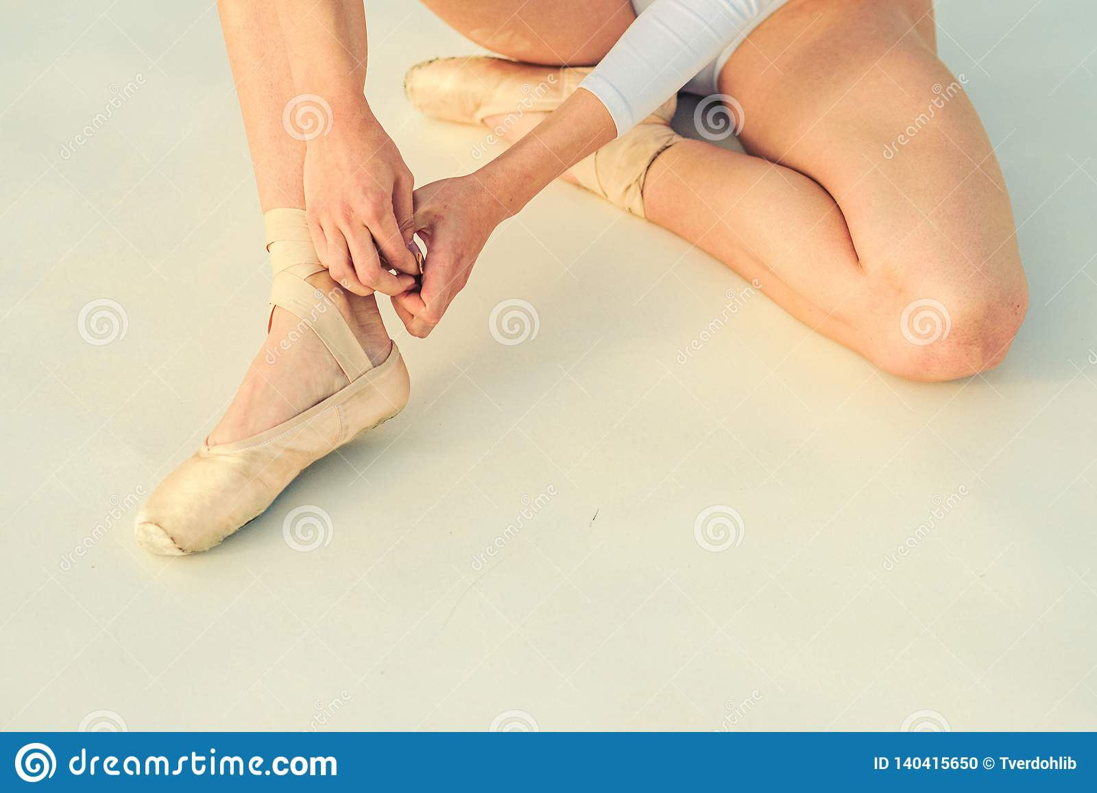 Dancing On Toes Lacing Ballet Slippers Female Feet In Pointe Shoes Ballerina Shoes Ballerina Legs In White Ballet Stock Photo Image Of Performance Graceful 140415650